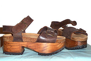 Platform shoe - Platform sandals with wooden sole