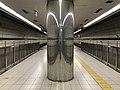 Platform of Shin-Nagata Station (Seishin-Yamate Line) 3.jpg