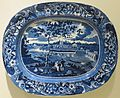 Platter with 'Fair Mount near Philadelphia' by Joseph Stubbs, Staffordshire, c. 1820-50, Dayton Art Institute.JPG