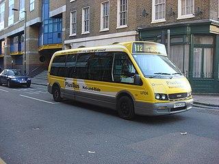 Plus Bus route 812 non-TfL London bus route