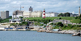 Pandangan di Plymouth Hoe Waterfront