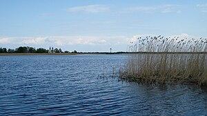 Podmotsa - View from Podmotsa over the bay to Kulje, Russia.