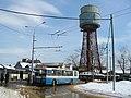 Podolsk trolleybus Шуховская водонапорная башня в Подольске (13953399224).jpg