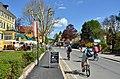 Poertschach Hauptstrasse 160 Franzl Einkehr Radfahrer 28042013 225.jpg