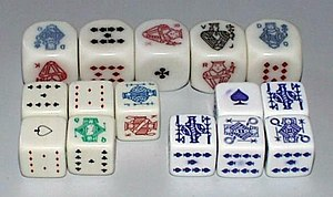 Poker dice - Three sets of poker dice