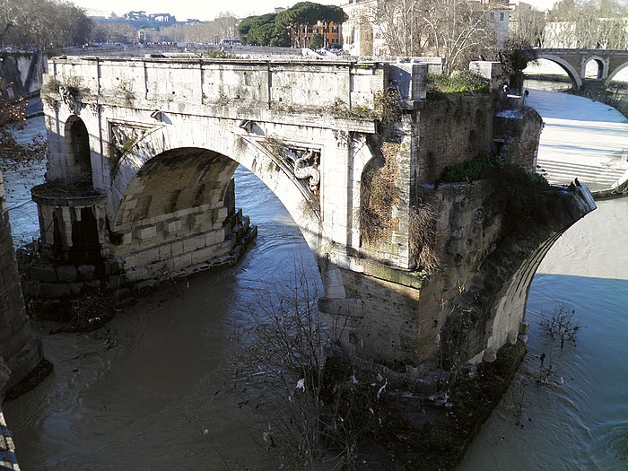 Pons Aemilius, the oldest Roman bridge in Rome, Field of Mars (Campus Martius) (9101307680)