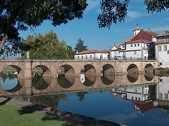 Roman Bridge of Chaves - An oblique view of the Roman bridge of Chaves