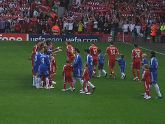 2007–08 in English football - Chelsea and Liverpool faced each other in the UEFA Champions League for the fourth season in succession.
