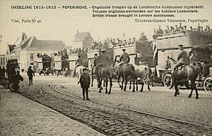 Poperinge - Defending the town in 1914