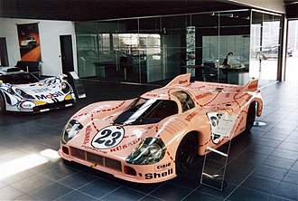 "Willi Kauhsen - 1971 Porsche 917/20 ""Pink Pig"" driven by Willi Kauhsen and Reinhold Jöst for Martini Racing in 1971 24 Hours of Le Mans"