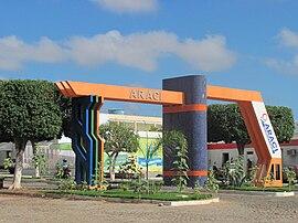Portal Araci - Marco da Cidade e uma das principais de suas entradas