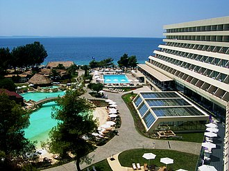 Tourism in Greece - The five-star Porto Carras Hotel and Resort in Halkidiki hosted the European Union leader's summit in 2003