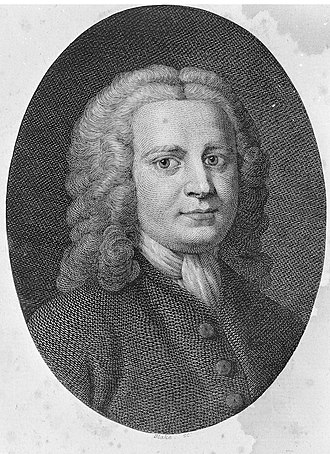 David Hartley (philosopher) - Engraving by William Blake in the 1791 edition of Hartley's Observations on Man