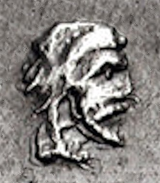 Pixodarus - Portrait on Carian coinage of the time of Pixodaros.