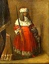 Portret van Keurvorst Johann Georg Christian van Saksen 1611-1656 in hermelijnen mantel en muts en met het twee gekruiste zwaarden gemerkte zwaard en een hond aan zijn zijde, toegeschreven aan Wolfgang Heimbach 1613-1678.jpg