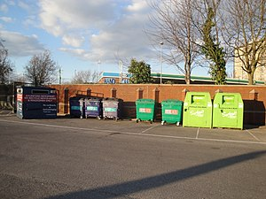 Recycling in the United Kingdom - Recycling collection site in Portsmouth, Hampshire
