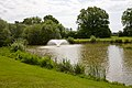 Powerful fountain in lake on Botley Park Golf Course - geograph.org.uk - 1329264.jpg