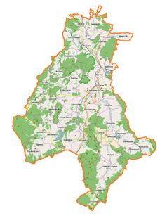 Mapa lokalizacyjna powiatu kamiennogórskiego