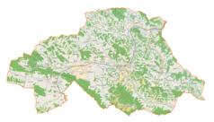 """Mapa konturowa powiatu strzyżowskiego, na dole znajduje się punkt z opisem """"Oparówka"""""""