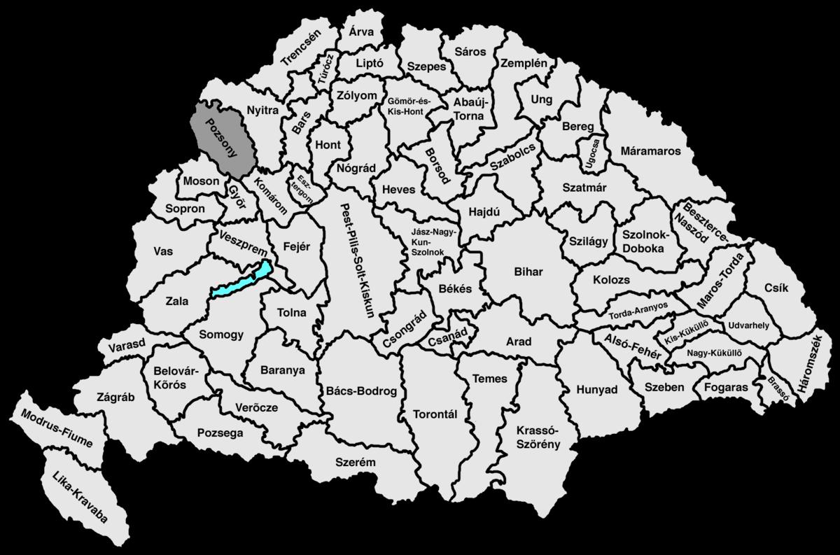 pozsony térkép Pozsony vármegye – Wikipédia pozsony térkép