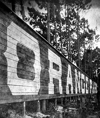Orange Park, Florida - Orange Park sign in the 1890s.
