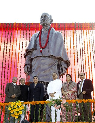 Sardar Vallabhbhai Patel International Airport - The statue of Sardar Patel installed within the airport in 2011.