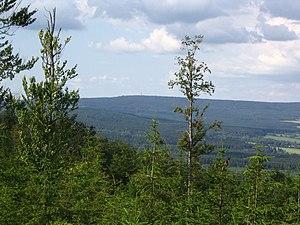 Brdy - Praha hill (second highest summit of Brdy) seen from Třemšín hill