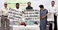 Prakash Javadekar and the Minister of Environment and Forest, Delhi, Shri Imran Hussain releasing a Heritage Map, on the occasion of the International Day of Forests, at Asola Bhatti sanctuary, in New Delhi.jpg