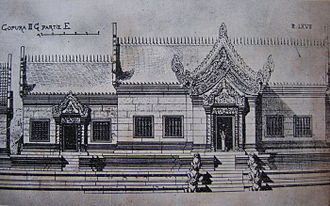 Preah Vihear Temple - Drawing of temple structures