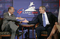 President Bush and President Chirac at G8 Summit, 2006.jpg