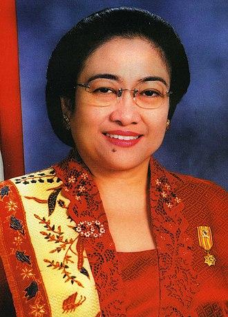 2009 Indonesian presidential election - Image: President Megawati Sukarnoputri Indonesia (cropped)