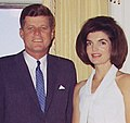President and First Lady, Portrait Photograph. President Kennedy, Mrs. Kennedy. White House, Yellow Oval Room. - NARA - 194262 (cropped) (cropped).jpg