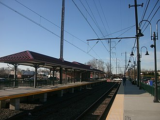 Primos station - Primos station in January 2013, after construction of the high-level platforms.