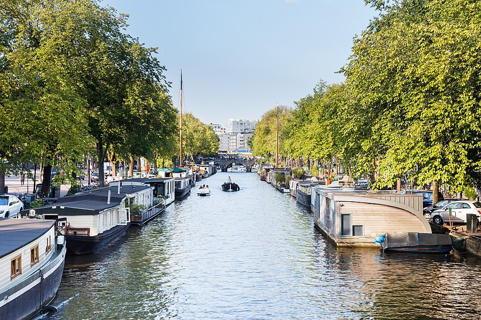 Prinsengracht towads Lekkeresluis from Bridge Prinsenstraat 2016-09-12