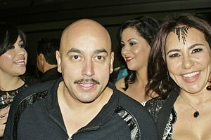 "Lupillo Rivera - Rivera pictured alongside ""Profesora Venus"" at the 2013 Premios de la Radio."