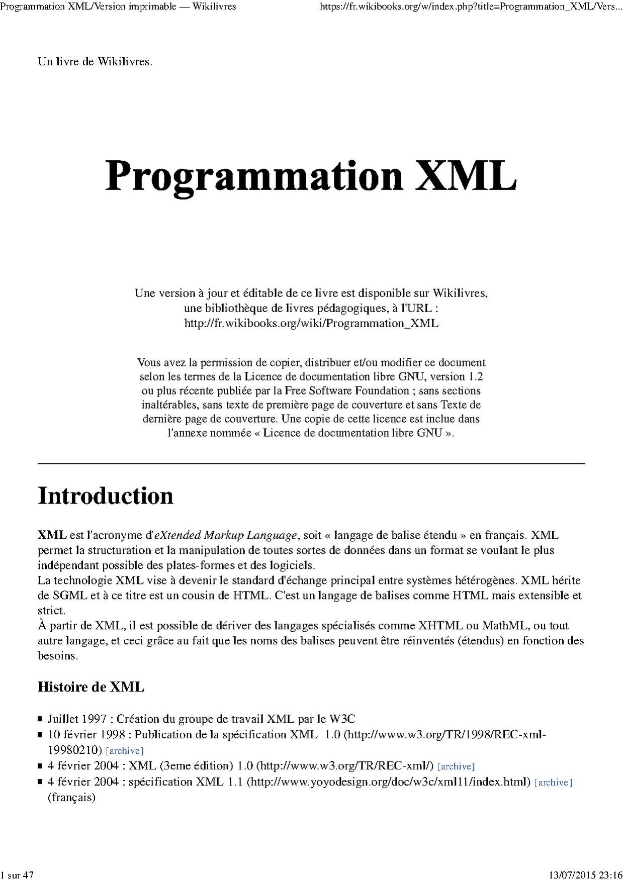 File Programmation Xml Fr Pdf Wikimedia Commons