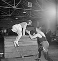 Pts For Lunch- Physical Training in the Canteen of a Southern Small Arms Factory, England, 1943 D12996.jpg