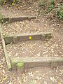 Public footpath crosses The Wirral Way at Willaston 4.JPG