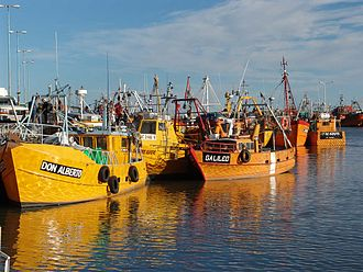Rawson, Chubut - Fishing trawlers in Puerto Rawson