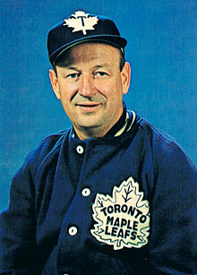 alt=Description de l'image Punch Imlach Maple Leafs Chex card.jpg.