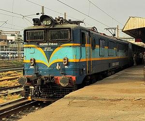 Indian locomotive class WCAM 1 - Image: Pune bound 11095 (ADI PUNE) Ahimsa Express