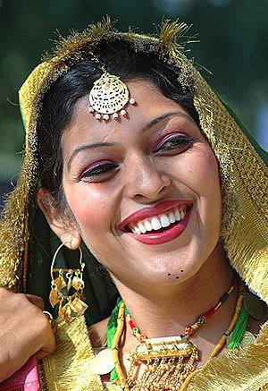 Lohri - Punjabi woman waiting to participate in Gidda