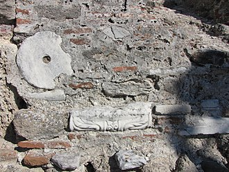 Ancient Pydna - Pydna, part of the wall