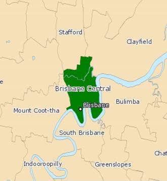 Electoral district of Brisbane Central - Brisbane Central (2008–2017)