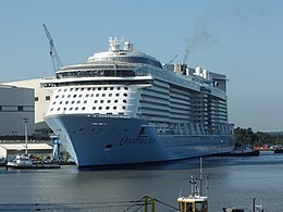 Quantum of the Seas in front of Hall 6.JPG