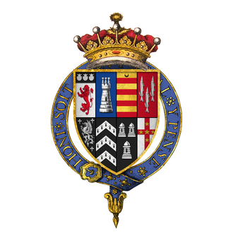 Francis Russell, 2nd Earl of Bedford - Quartered arms of Sir Francis Russell, 2nd Earl of Bedford, KG