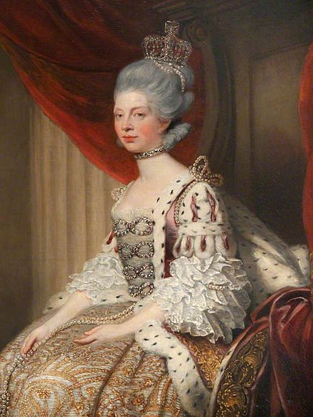 Queen Charlotte in Robes of State, by Joshua Reynolds, 1779 Queen-charlotte-1744-1818.jpg