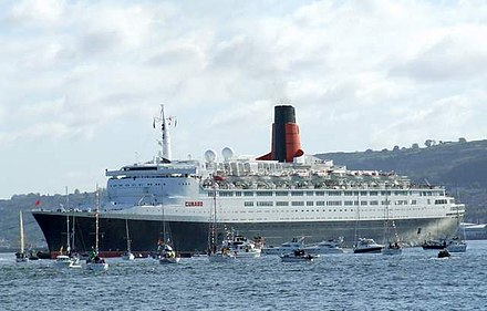 RMS Queen Elizabeth 2 was built in Glasgow at the John Brown Shipyard on the River Clyde