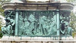 Queen Victoria Memorial, Lancaster - Image: Queen Victoria Memorial Lancaster South Frieze
