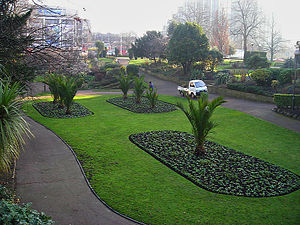 Parks and open spaces in the London Borough of Croydon - Queen's Gardens urban parkland area in Central Croydon